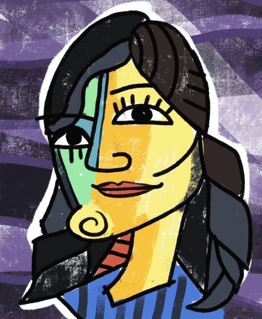 ritratti cubisti donne