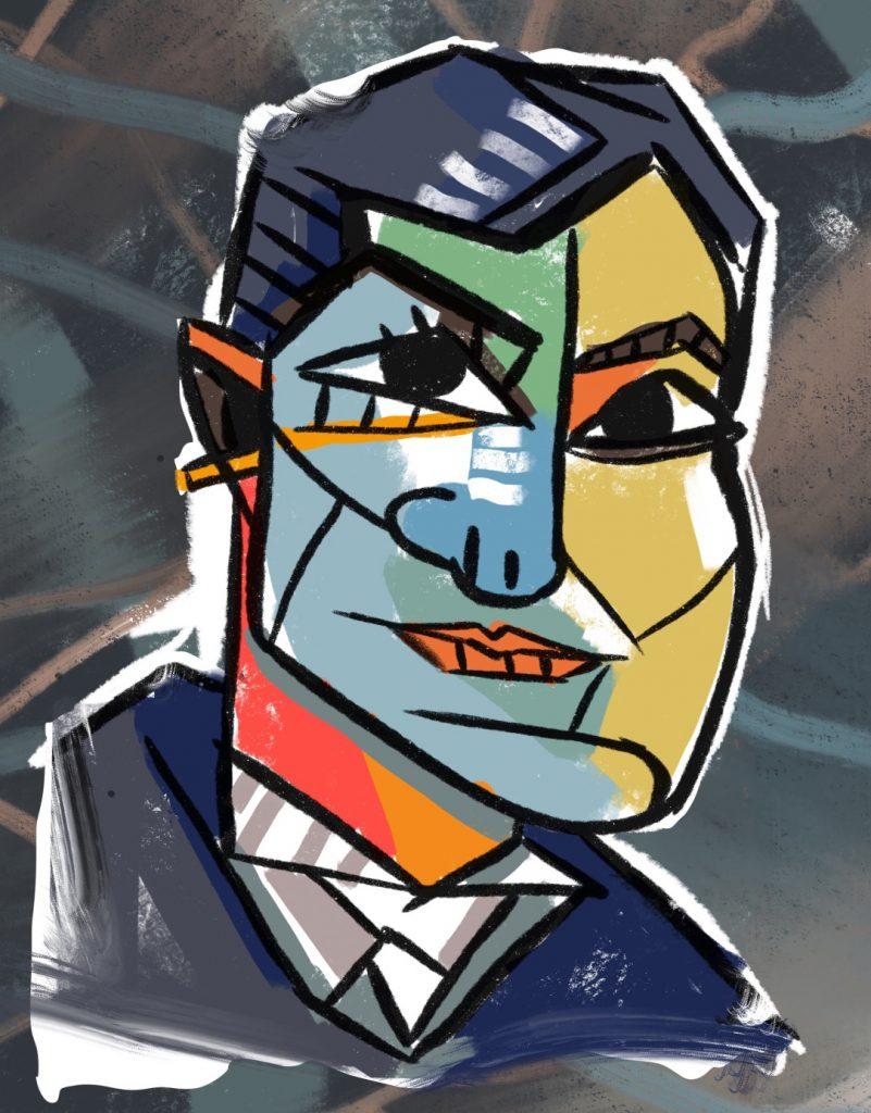 ritratti cubisti stile Picasso