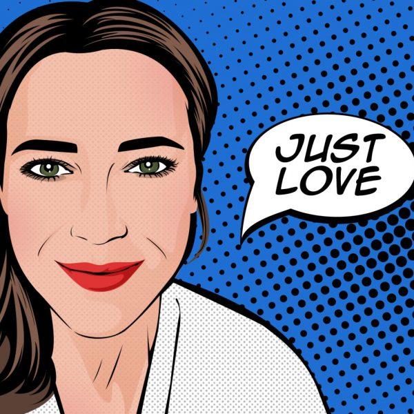 ritratti pop art con fumetti personalizzati