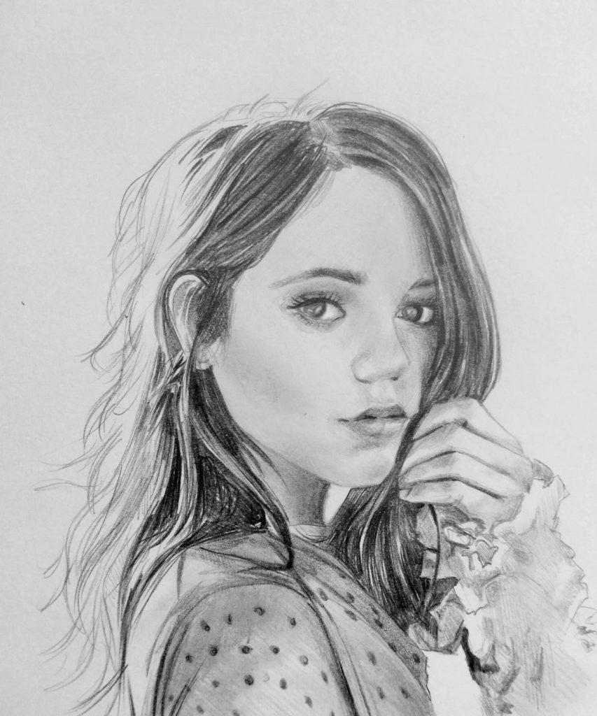 ritratto a matita di ragazza