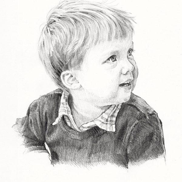 ritratto a matita profilo