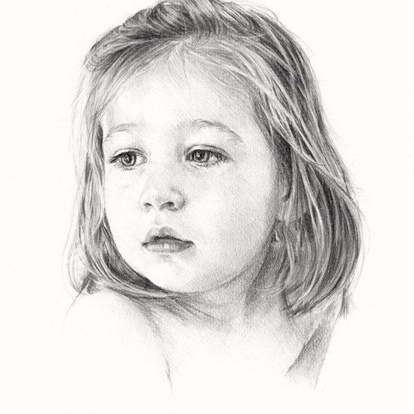 ritratto a matita volto