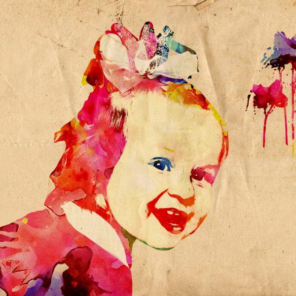 ritratto astratto bambina