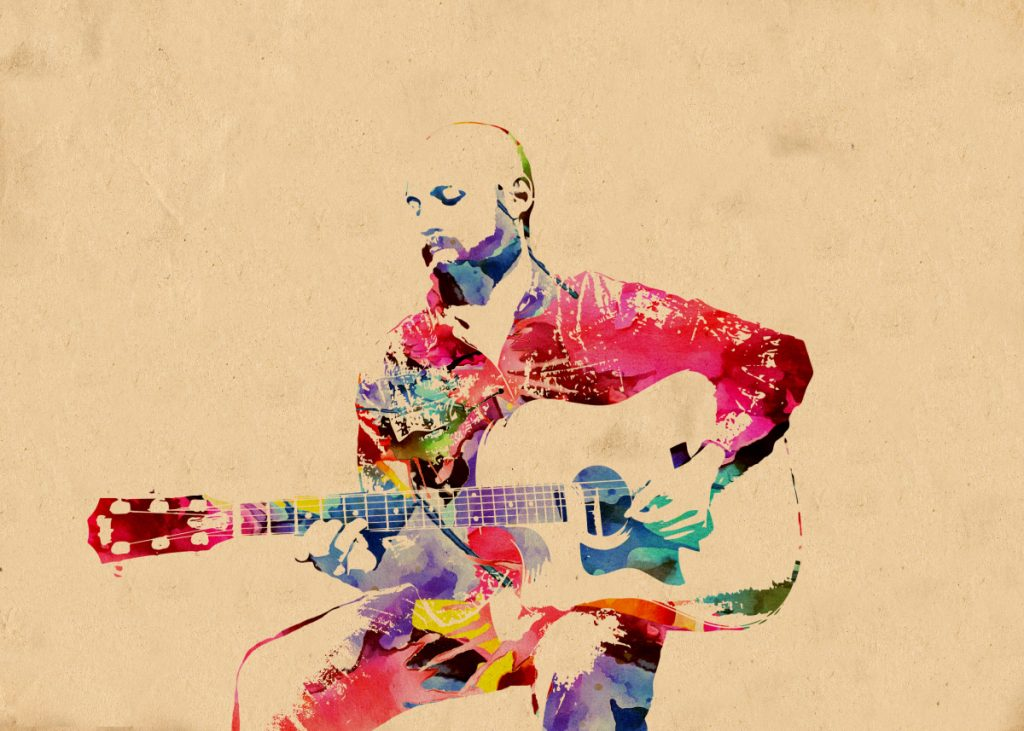 ritratto con chitarra