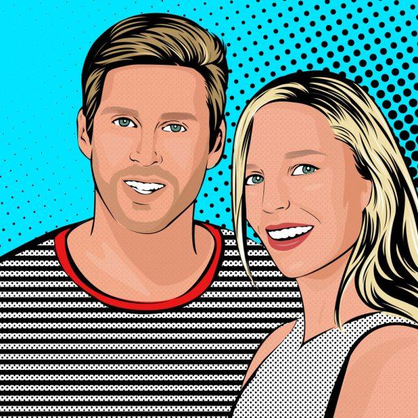 ritratto pop art coppia