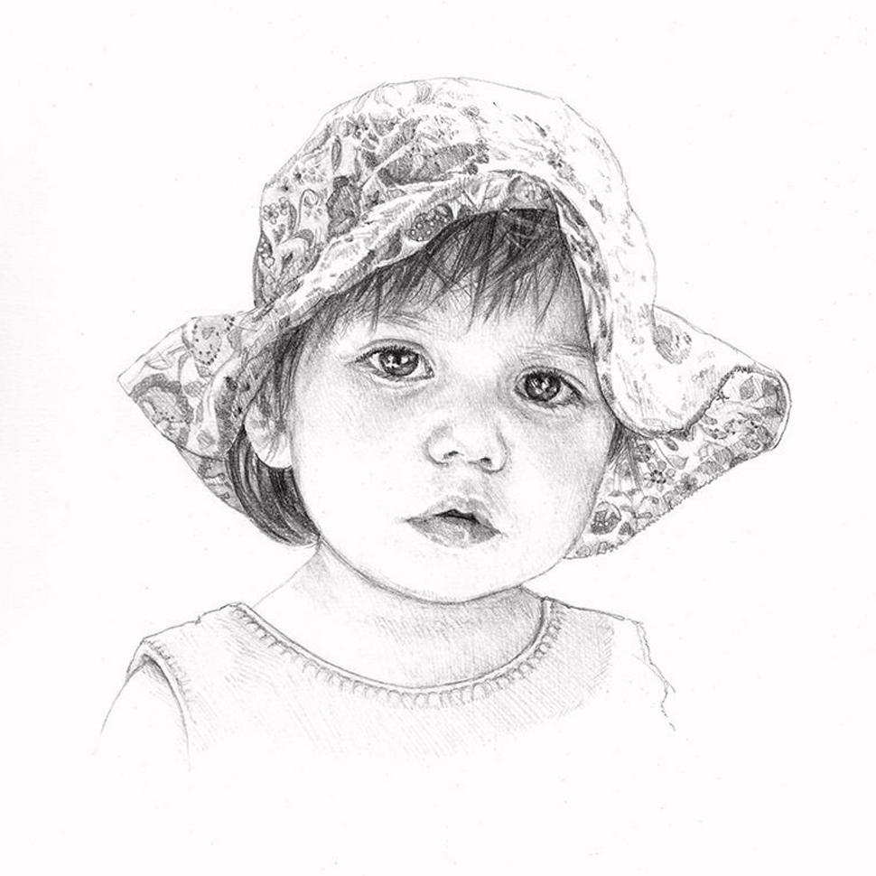 ritratto volto a matita